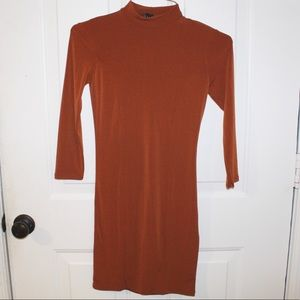 NWT Forever 21 Rust 3/4 Leng Sleeve Dress Size XS